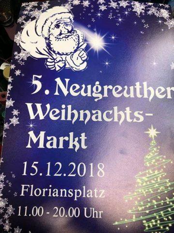 Schüler der Neugreuthschule auf dem Neugreuther Weihnachtsmarkt am 15.12.2018